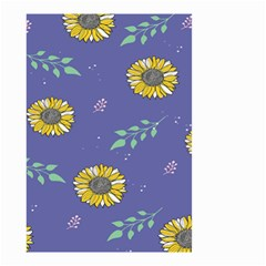 Floral Flower Rose Sunflower Star Leaf Pink Green Blue Yelllow Small Garden Flag (two Sides)