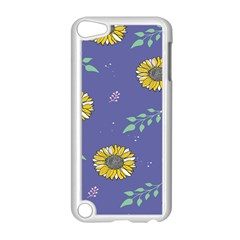 Floral Flower Rose Sunflower Star Leaf Pink Green Blue Yelllow Apple Ipod Touch 5 Case (white)
