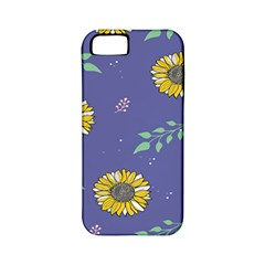 Floral Flower Rose Sunflower Star Leaf Pink Green Blue Yelllow Apple iPhone 5 Classic Hardshell Case (PC+Silicone)