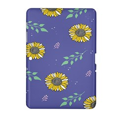 Floral Flower Rose Sunflower Star Leaf Pink Green Blue Yelllow Samsung Galaxy Tab 2 (10.1 ) P5100 Hardshell Case
