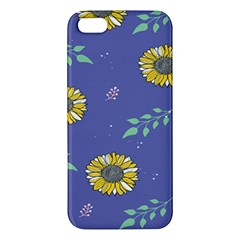 Floral Flower Rose Sunflower Star Leaf Pink Green Blue Yelllow iPhone 5S/ SE Premium Hardshell Case