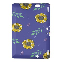 Floral Flower Rose Sunflower Star Leaf Pink Green Blue Yelllow Kindle Fire HDX 8.9  Hardshell Case