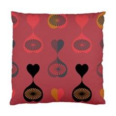 Heart Love Fan Circle Pink Blue Black Orange Standard Cushion Case (One Side)