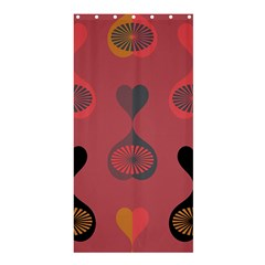 Heart Love Fan Circle Pink Blue Black Orange Shower Curtain 36  x 72  (Stall)