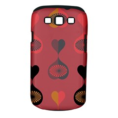 Heart Love Fan Circle Pink Blue Black Orange Samsung Galaxy S III Classic Hardshell Case (PC+Silicone)