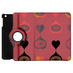 Heart Love Fan Circle Pink Blue Black Orange Apple iPad Mini Flip 360 Case