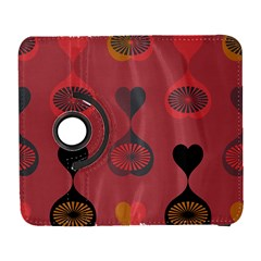 Heart Love Fan Circle Pink Blue Black Orange Galaxy S3 (Flip/Folio)