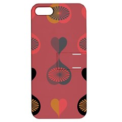 Heart Love Fan Circle Pink Blue Black Orange Apple iPhone 5 Hardshell Case with Stand