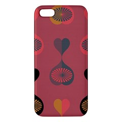 Heart Love Fan Circle Pink Blue Black Orange iPhone 5S/ SE Premium Hardshell Case