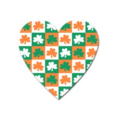 Ireland Leaf Vegetables Green Orange White Heart Magnet