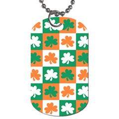 Ireland Leaf Vegetables Green Orange White Dog Tag (one Side)