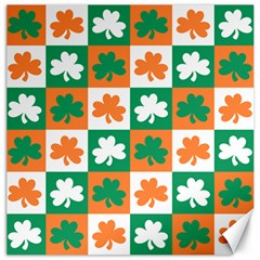 Ireland Leaf Vegetables Green Orange White Canvas 16  x 16