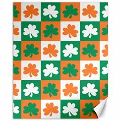 Ireland Leaf Vegetables Green Orange White Canvas 11  x 14