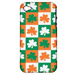 Ireland Leaf Vegetables Green Orange White Apple iPhone 4/4S Hardshell Case (PC+Silicone)