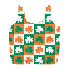 Ireland Leaf Vegetables Green Orange White Full Print Recycle Bags (L)