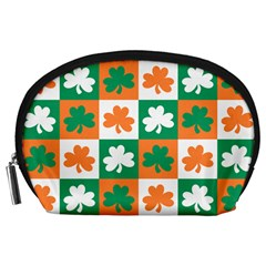 Ireland Leaf Vegetables Green Orange White Accessory Pouches (Large)