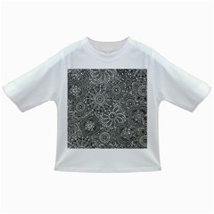 Flower Floral Rose Sunflower Black White Infant/toddler T Shirts