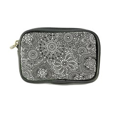 Flower Floral Rose Sunflower Black White Coin Purse