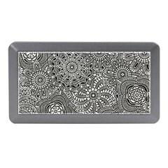 Flower Floral Rose Sunflower Black White Memory Card Reader (Mini)