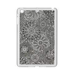 Flower Floral Rose Sunflower Black White Ipad Mini 2 Enamel Coated Cases