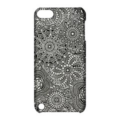 Flower Floral Rose Sunflower Black White Apple iPod Touch 5 Hardshell Case with Stand