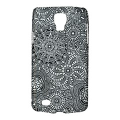 Flower Floral Rose Sunflower Black White Galaxy S4 Active