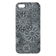 Flower Floral Rose Sunflower Black White iPhone 5S/ SE Premium Hardshell Case
