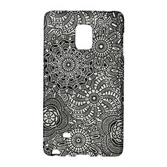 Flower Floral Rose Sunflower Black White Galaxy Note Edge