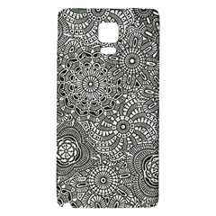 Flower Floral Rose Sunflower Black White Galaxy Note 4 Back Case