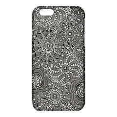 Flower Floral Rose Sunflower Black White iPhone 6/6S TPU Case