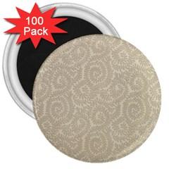 Leaf Grey Frame 3  Magnets (100 Pack)
