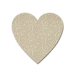 Leaf Grey Frame Heart Magnet