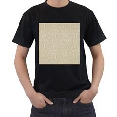 Leaf Grey Frame Men s T Shirt (black) (two Sided)