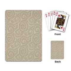 Leaf Grey Frame Playing Card