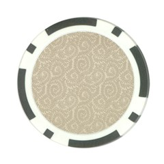 Leaf Grey Frame Poker Chip Card Guard