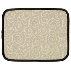 Leaf Grey Frame Netbook Case (Large)