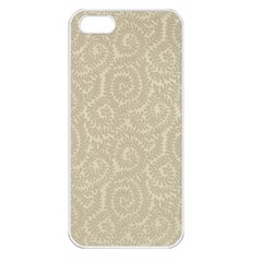 Leaf Grey Frame Apple iPhone 5 Seamless Case (White)