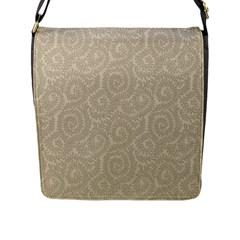 Leaf Grey Frame Flap Messenger Bag (L)