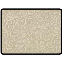 Leaf Grey Frame Double Sided Fleece Blanket (Large)