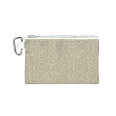Leaf Grey Frame Canvas Cosmetic Bag (S)