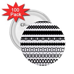 Love Heart Triangle Circle Black White 2.25  Buttons (100 pack)