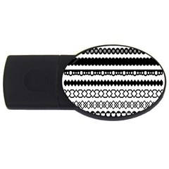 Love Heart Triangle Circle Black White USB Flash Drive Oval (4 GB)
