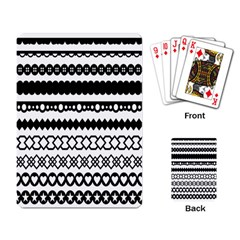 Love Heart Triangle Circle Black White Playing Card
