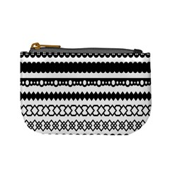 Love Heart Triangle Circle Black White Mini Coin Purses