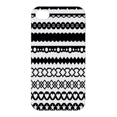 Love Heart Triangle Circle Black White Apple iPhone 4/4S Hardshell Case
