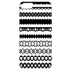 Love Heart Triangle Circle Black White Apple iPhone 5 Classic Hardshell Case