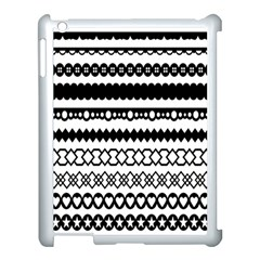 Love Heart Triangle Circle Black White Apple Ipad 3/4 Case (white)