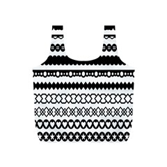 Love Heart Triangle Circle Black White Full Print Recycle Bags (S)