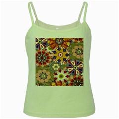 Flower Floral Sunflower Rainbow Frame Green Spaghetti Tank