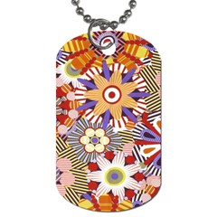 Flower Floral Sunflower Rainbow Frame Dog Tag (two Sides)
